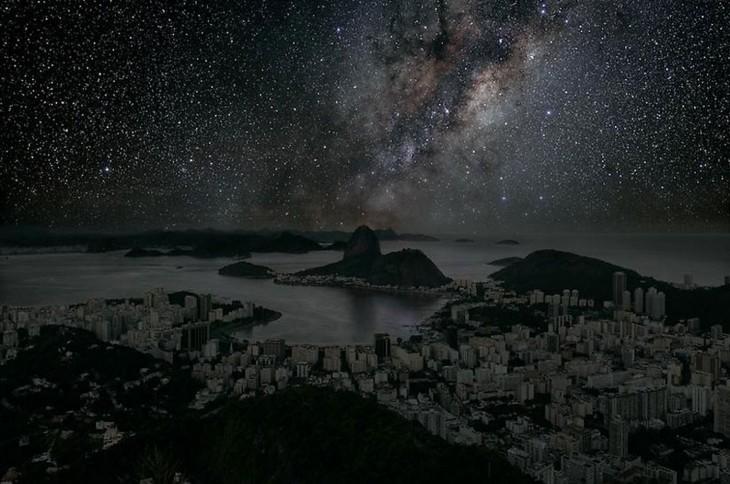Ciudad de Río de Janeiro a oscuras