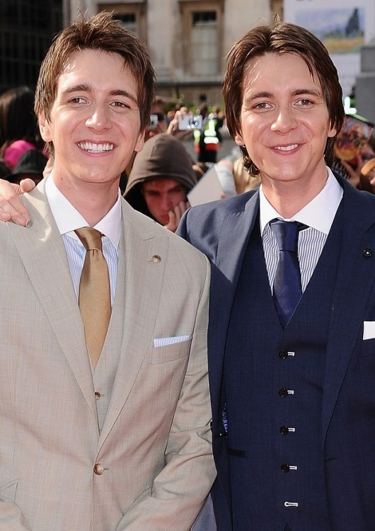 James and Oliver Phelps ((Fred and George Weasly)