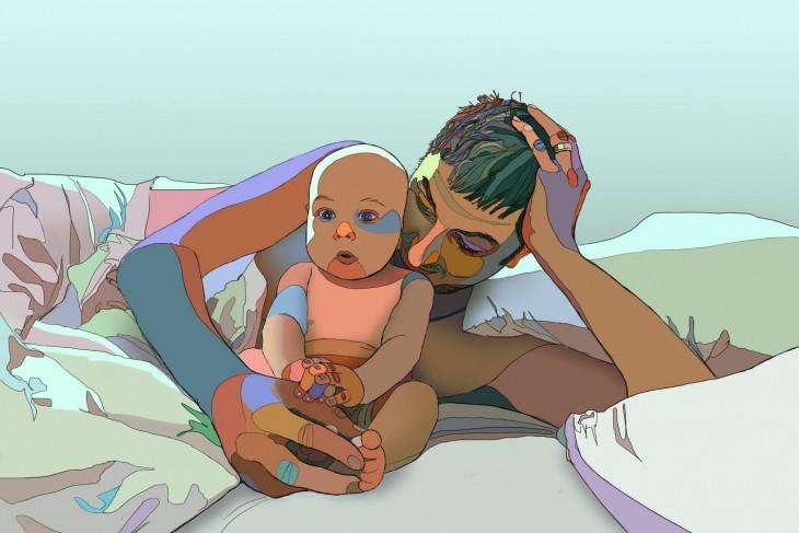 dibujo de padre e hijo