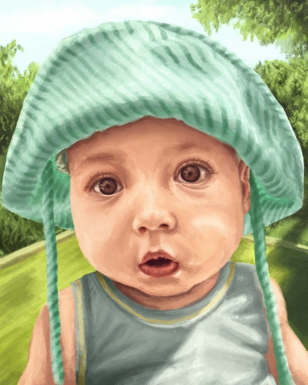 dibujo de bebe