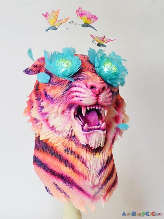 pastel cabeza de tigre