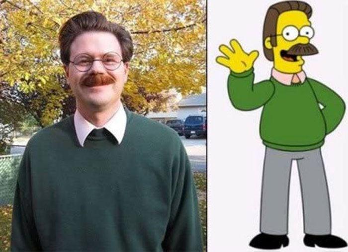Personas que son idnticos a personajes de dibujos animados