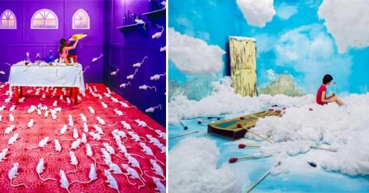 artista coreana crea lugares surrealistas en su estudio sin usar photoshop