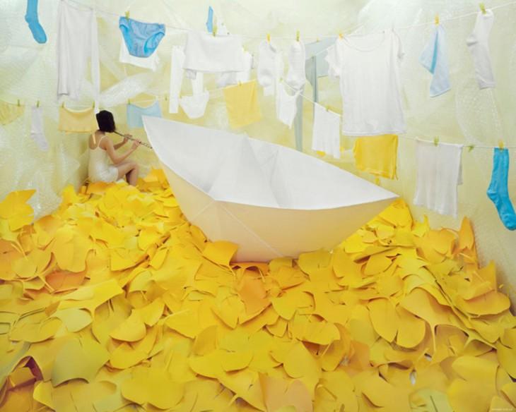 Корейский художник превращает их изучение в местах surreales если photoshop