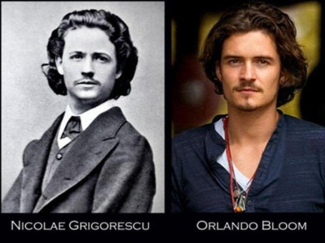 Grigorescu un señor de 1900 y el actor orlando bloom
