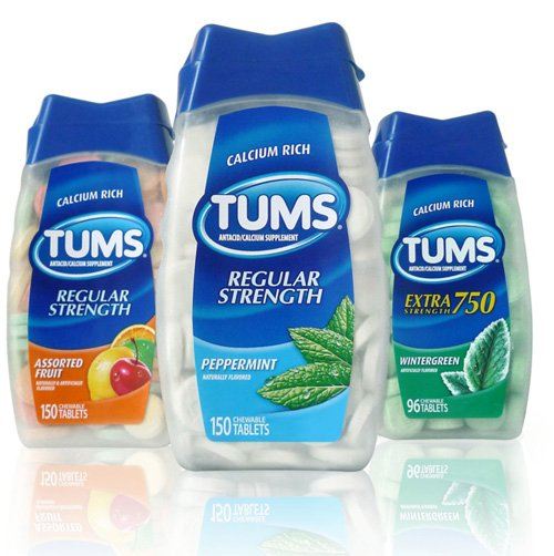tres envaces de pastillas tums