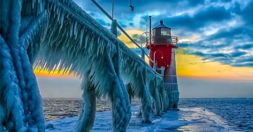 formaciones de nieve y hielo que parecen de arte