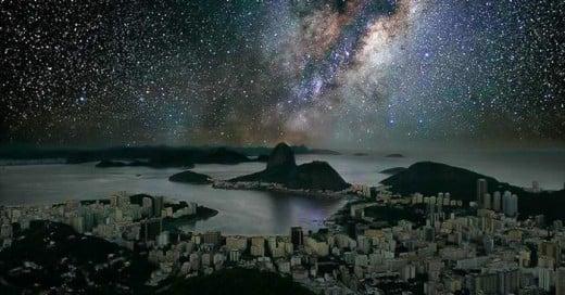 como se verian las grandes ciudades sin luces