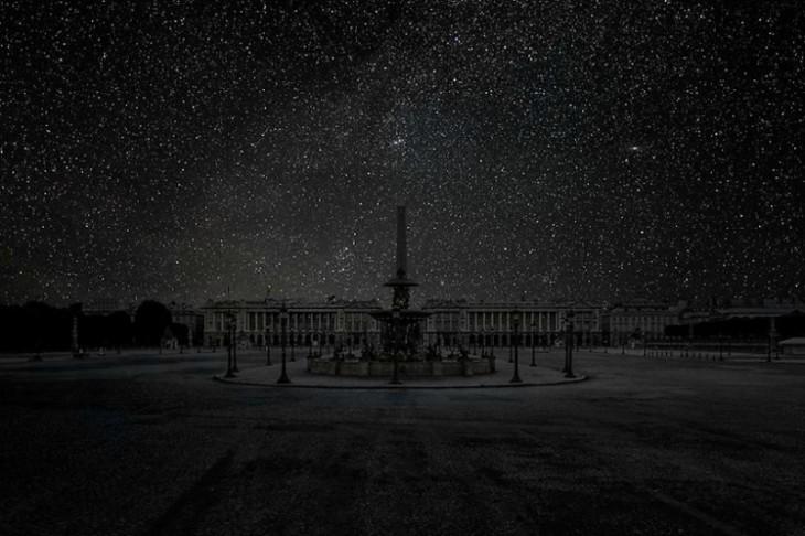 Paris cielo nocturno sin luz