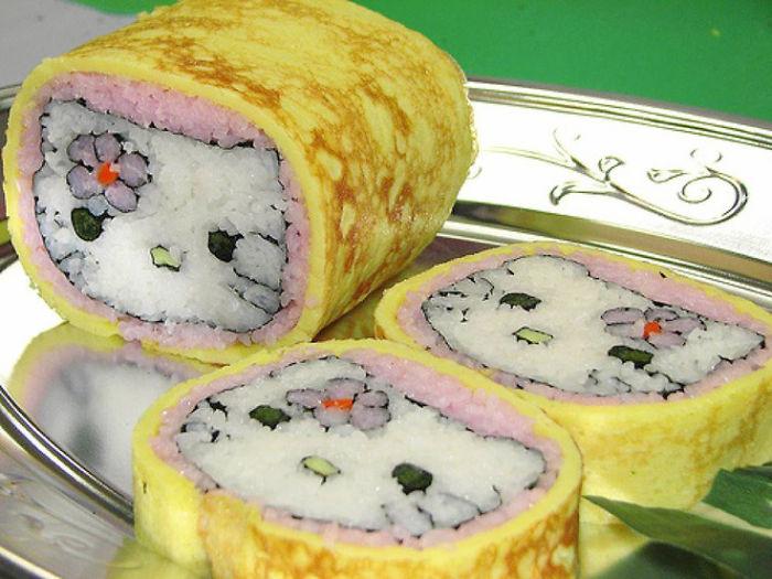sushi en forma de kitty