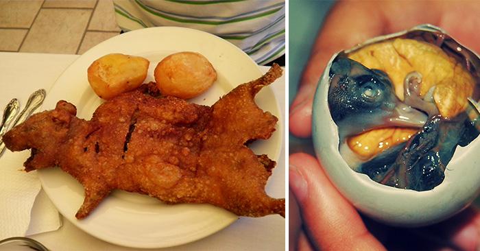 Las comidas mas raras y desagradables que se pueden consumir for Comidas con d