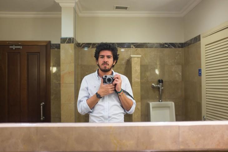selfies en los baños