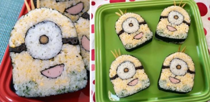 sushi en forma de minion de la pelicula de mi villano favorito