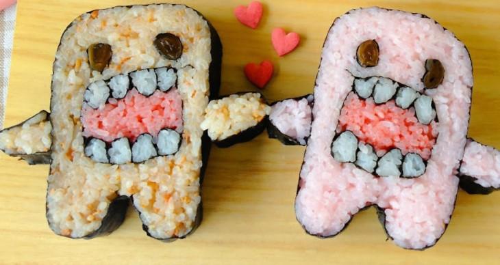 sushi en forma de monstruo Domo