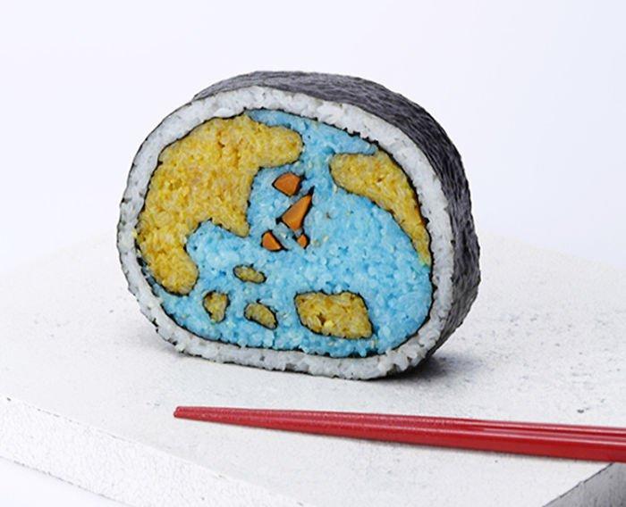 sushi en forma de mundo