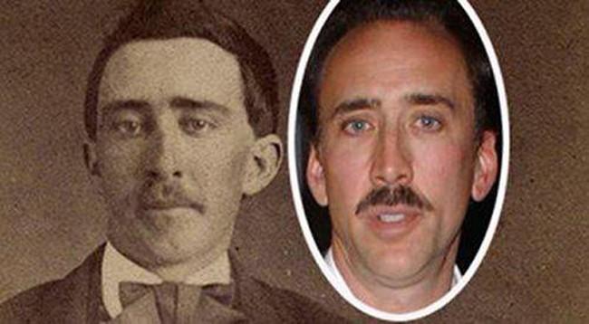 nicolas cage y un hombre del siglo pasado