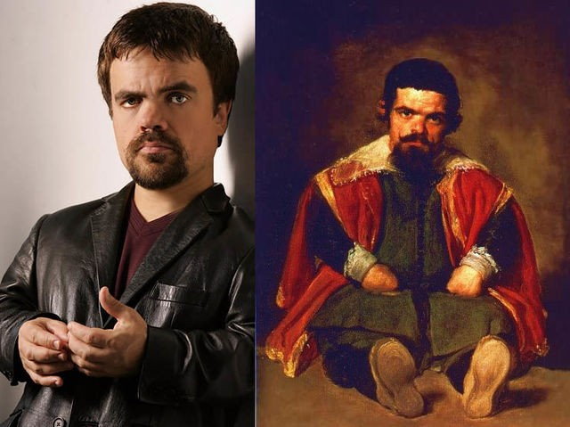 """Peter Dinklage y """"Retrato de Sebastián de Morra"""" de Diego Velázquez"""