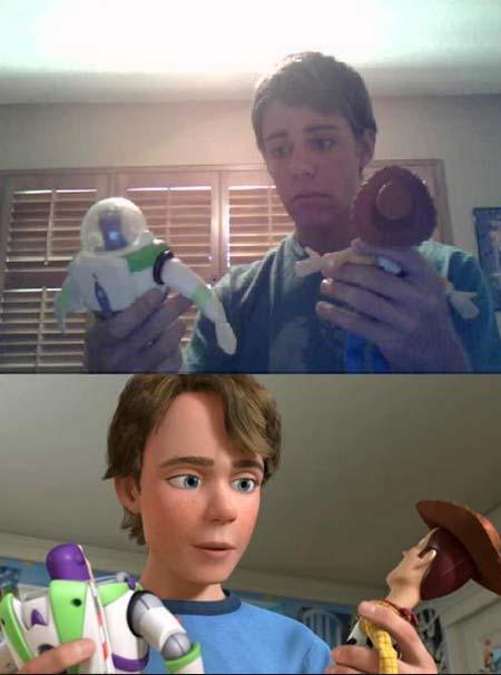 joven que se parece a Andy de toy story