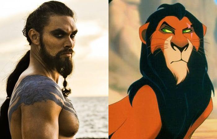 guerrero que se parece al león Scar