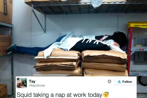 hombre durmiendo en bolsas