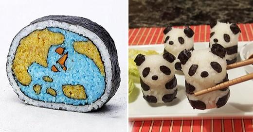 los dise♫os de sushi mas creativos que hayas visto