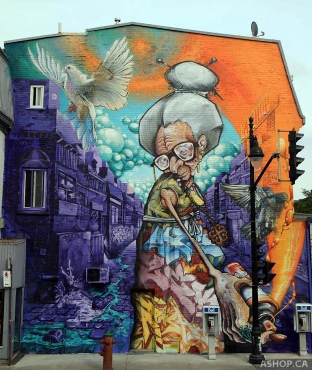 чертеж пожилая женщина, это та, рисуя улицах