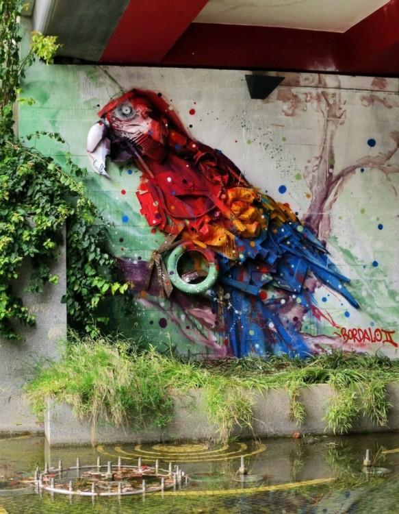 guacamya, нарисованной на стене