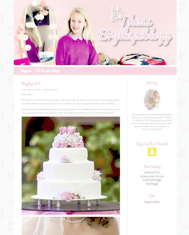 blog de Thea niña de 12 años se casa en noruega