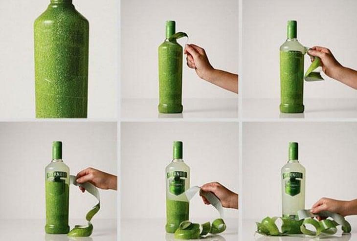envoltura del color del sabor de la botella