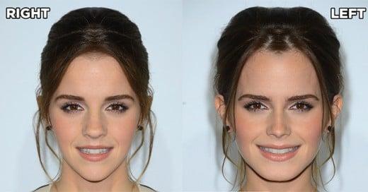 como se verian muchas celebridades si sus caras fueran simetricas