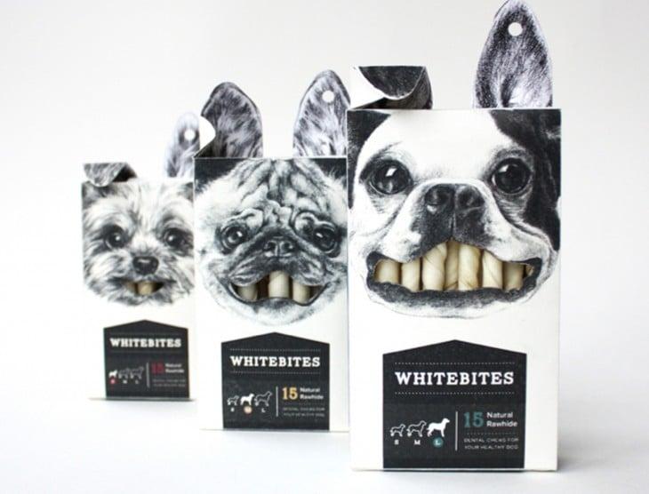 carnaza en cajas con la imagen de perritos