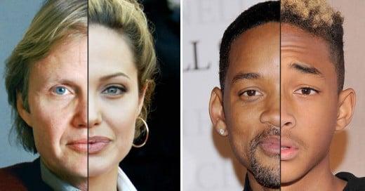 celebridades que son identicos a sus padres