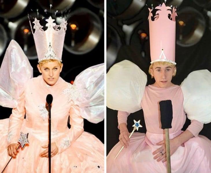 chico de 17 se disfraza como Ellen DeGeneres