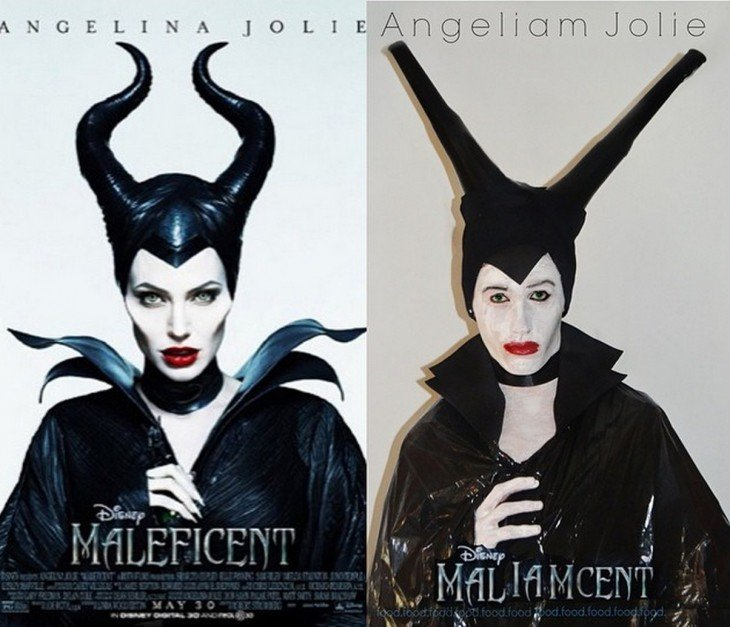 chico de 17 se disfraza como Angelina Jolie