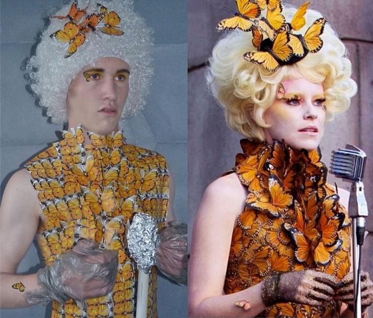 """chico de 17 se disfraza como Effie """"Los juegos del hambre"""""""
