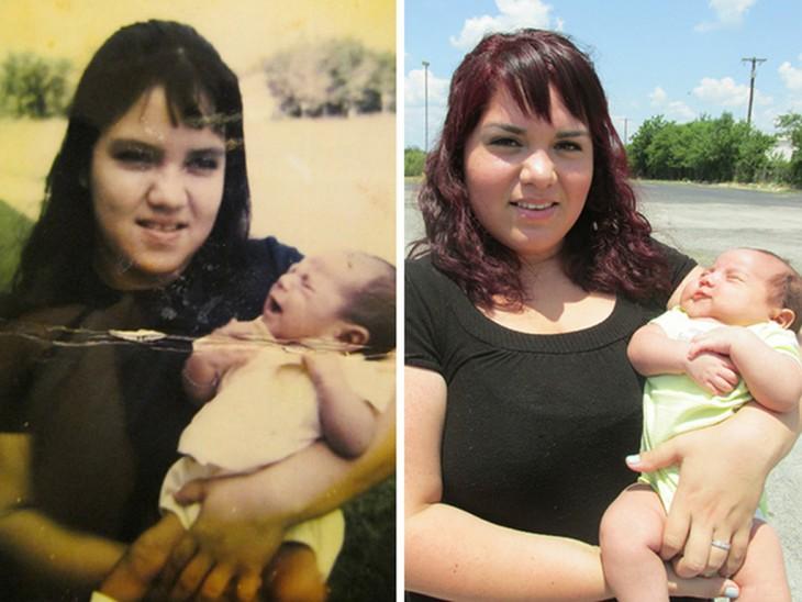 2 niños y madres parecidos