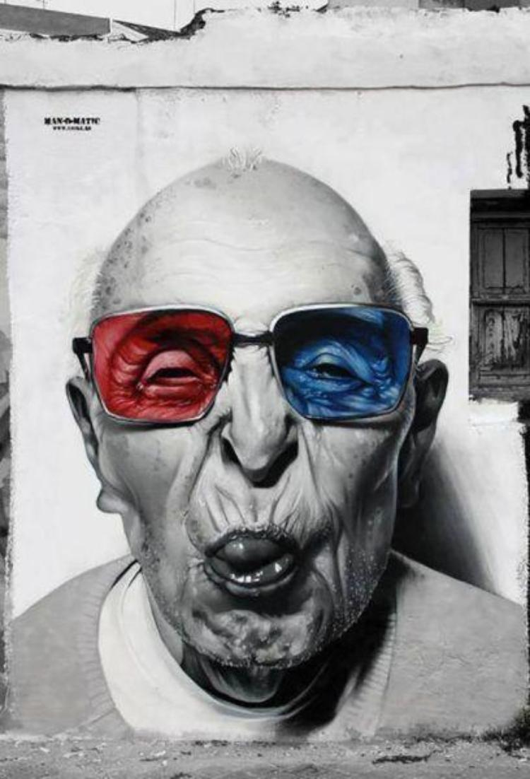 3d glasses graffiti