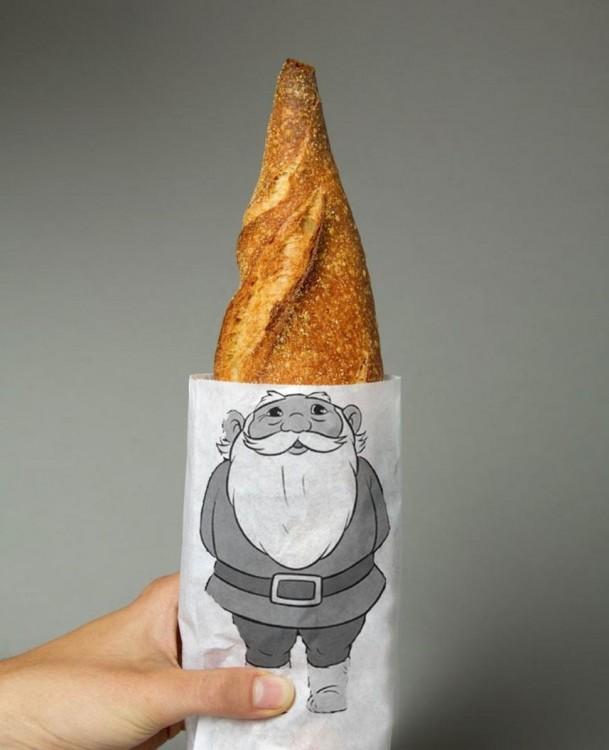 pan en forma de pico que simula el gorro de un gnomo