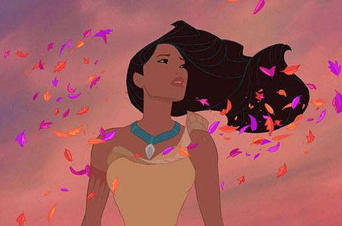 pocahontas con el viento cabello perfecto