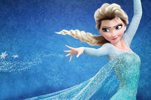 princesa de frozen con raiz negra
