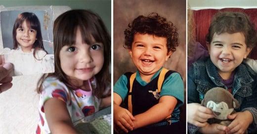 fotos de padres e hijos que son identicos a la misma edad