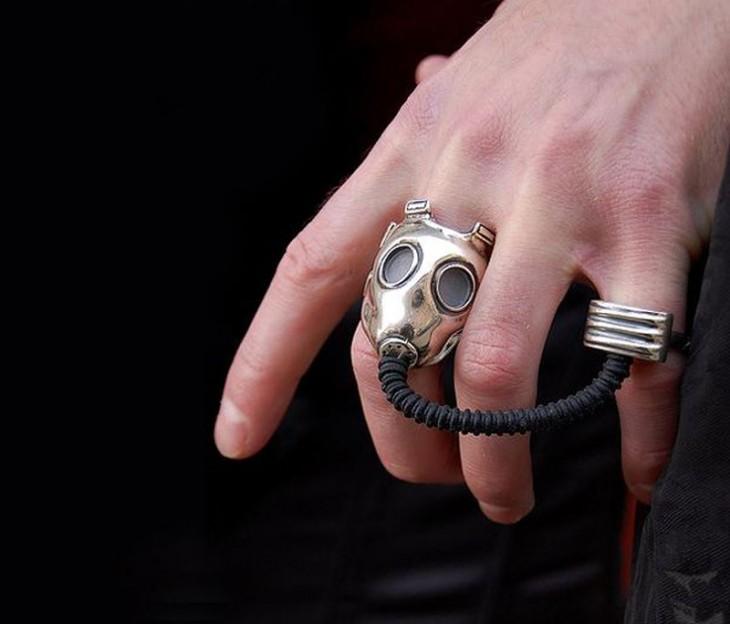 anillo de mascara de gas