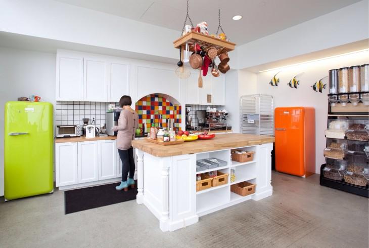 oficina con cocina
