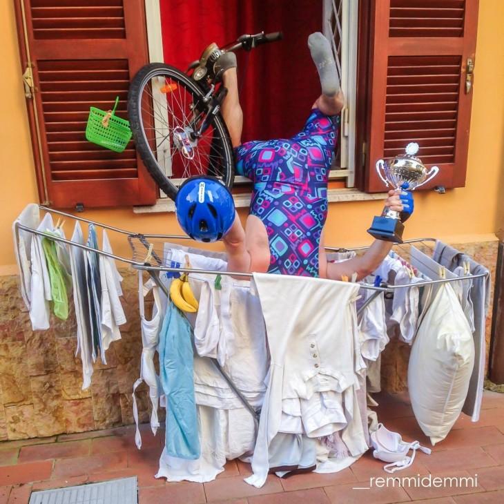 personas que cayeron de frente en lavanderoa