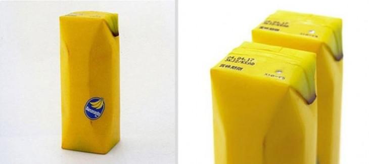 jugo de platano natural de color amarillo