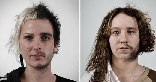 retratos geneticos que comparan las caras de familiares