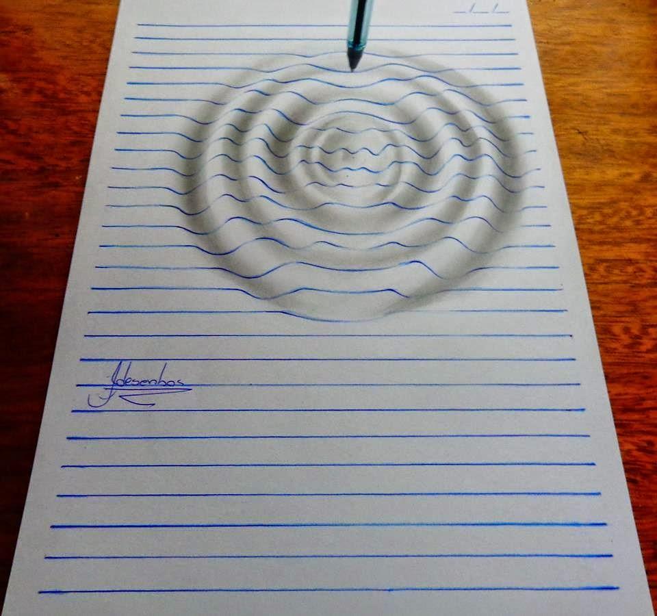 Dibujos 3d En Un Bloc De Notas Con Efectos Increibles