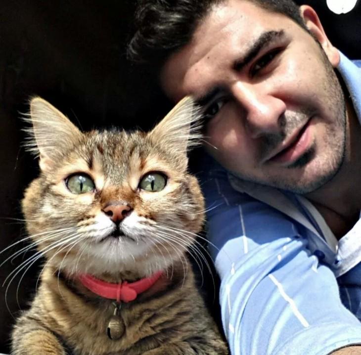 selfie con un gato
