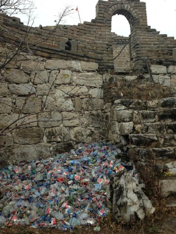 La gran muralla China contaminada por desechos