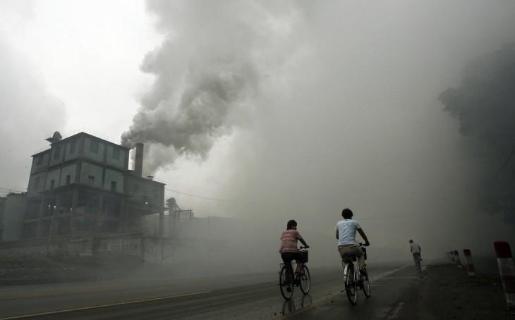 Contaminación de una fabrica en Tutian a 100 kmts de Beijing